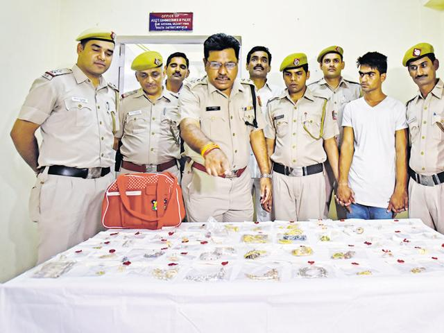 Delhi Police on Sunday arrested a 20-year-old domestic help for allegedly stealing diamond and gold jewellery worth R90 lakh and R20,000 cash from his employer's house in Vasant Vihar when she was abroad.