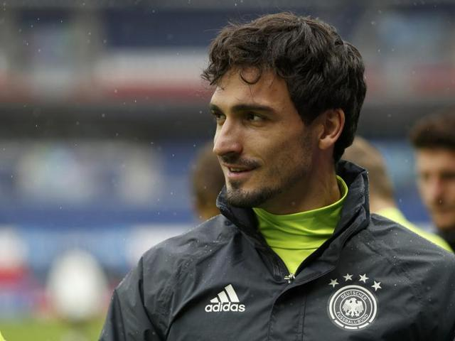 Germany's Mats Hummels during training.