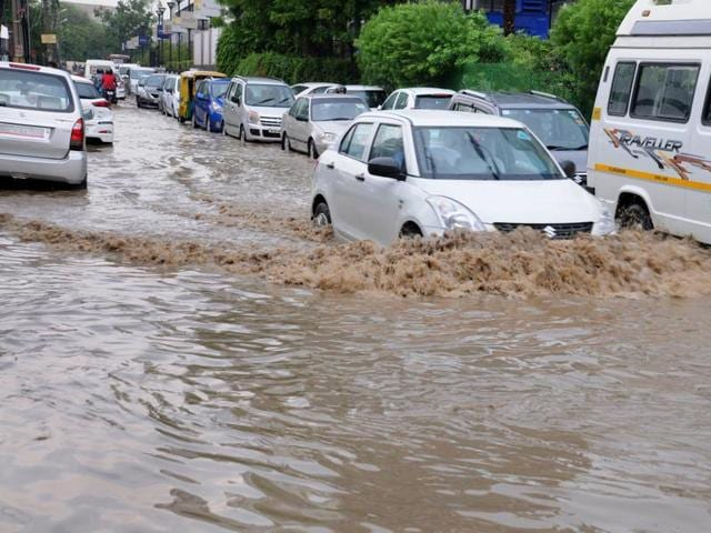 Residents said most areas were under water after the drains that are clogged with silt and garbage failed to carry rainwater.