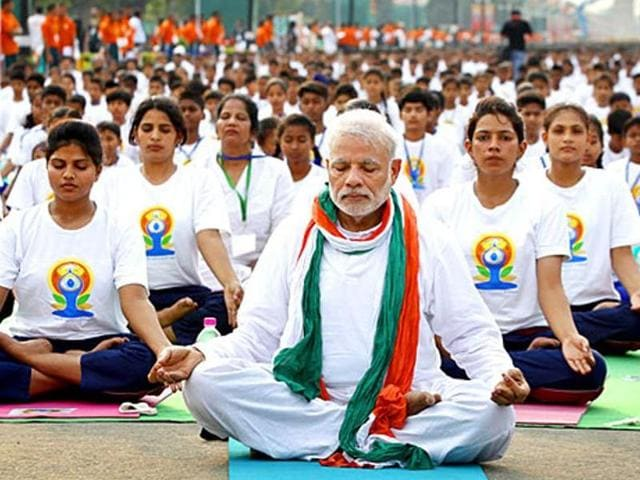 International Yoga Day,Prime Minister Narendra Modi,Bihar chief minister Nitish Kumar