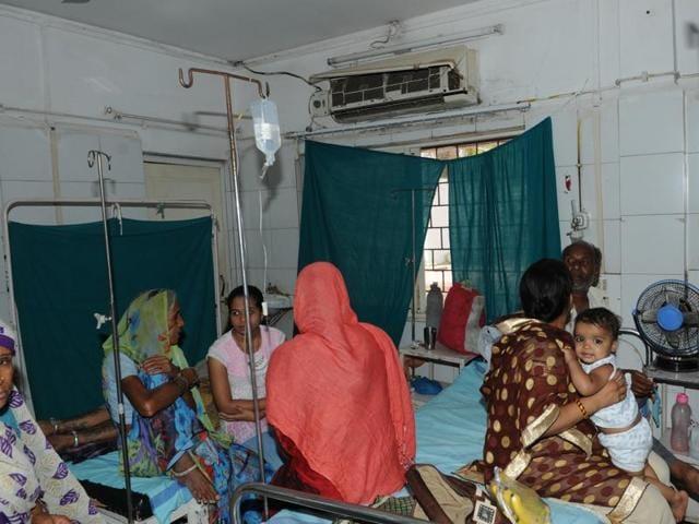 Datia district hospital in shambles.