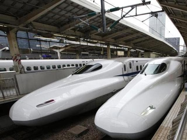 On December 12, India and Japan signed memorandum of understanding (MoU) for starting a bullet train service between two commercial hubs of the country, Mumbai and Ahmedabad.