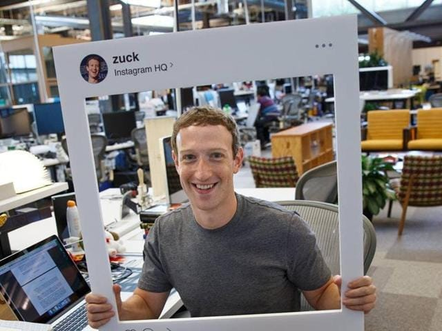 Founder of Facebook, Mark Zuckerberg, posts a photo from his work desk on the occasion of photo sharing app Instagram acquiring half a billion users.