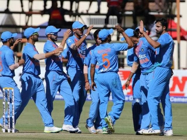 Kedar Jadhav bailed India out of trouble with 58 off 42 balls.