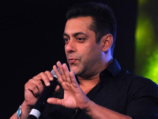 This file photo from October 2015 shows Bollywood actor Salman Khan at a promotional event in Mumbai.