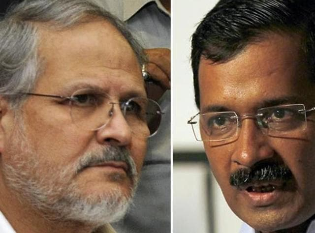 A combination photograph of Delhi LGNajeeb Jung and chief minister Arvind Kejriwal.