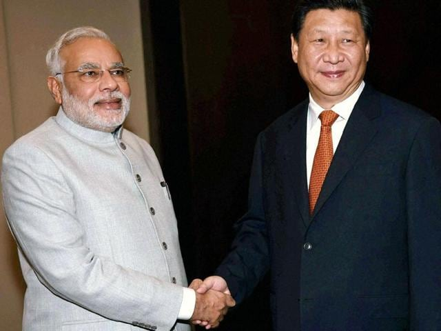 File photo of Indian PM Modi with Chinese president Xi Jingping. Modi is expected to take up the issue of India's NSG membership with Xi on the sidelines of the SCO summit on June 23.