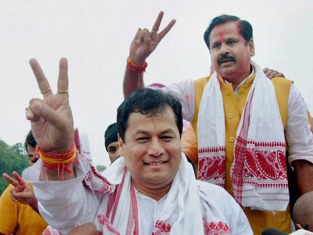 BJP's Sarbananda Sonowal became the chief minister for Assam following the party's victory in the assembly polls, in Guwahati. The BJP-led alliance will now take its 'Congress-free' Northeast agenda forward.
