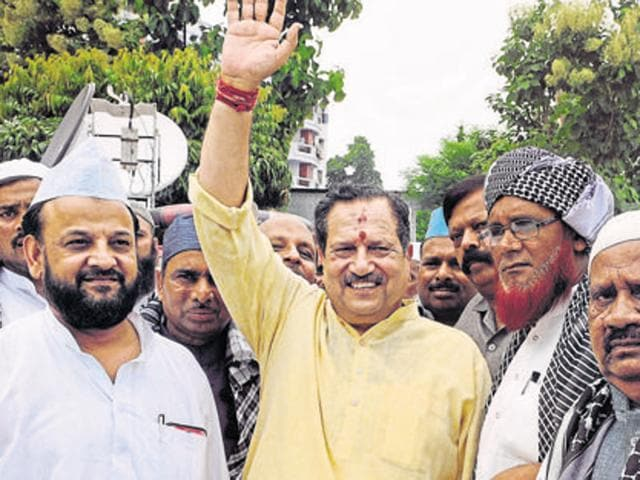 RSS veteran Indresh Kumar attends the All India Ulema Conference organised by Muslim Rashtriya Manch in Lucknow.