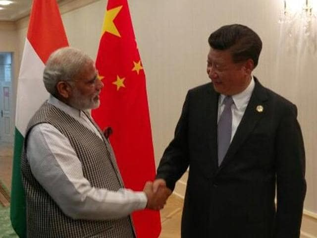 Prime Minister Narendra Modi's meeting with Chinese President Xi Jinping was his first engagement after landing at the airport in Tashkent, where he was received by Uzbek Prime Minister Shavkat Mirziyoyev.