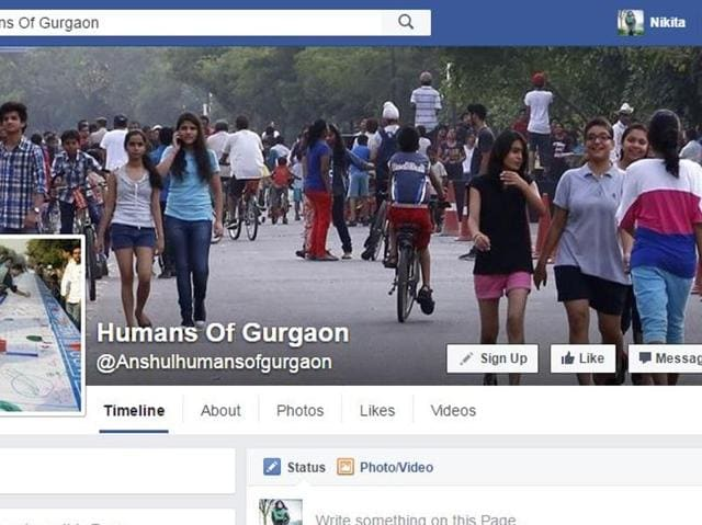 Facebook page of Humans of Gurgaon.