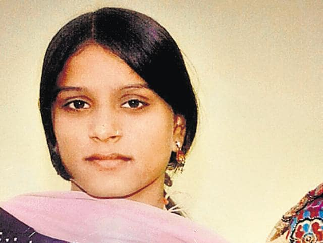 Police said the mother-daughter duo, identified as Hemlata Sharma (in pic) and her daughter Pritika, were tied to the front passenger seat with seat belt in the van that was found submerged in the canal by the local police and divers from the fire department.