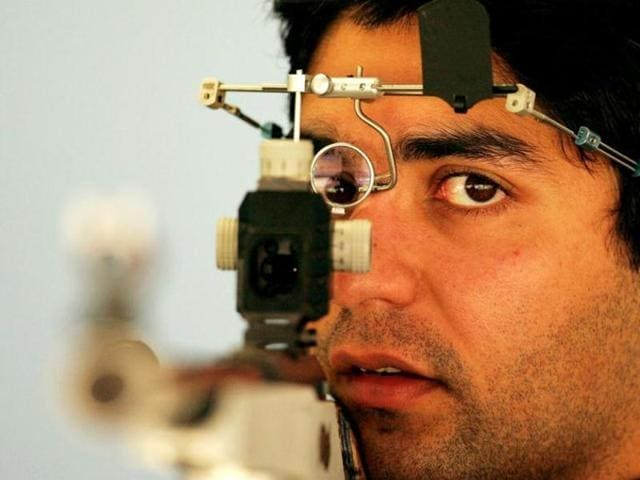 Indian shooters Abhinav Bindra and Gagan Narang (not pictured) missed out on medals in the ISSF World Cup in Baku.