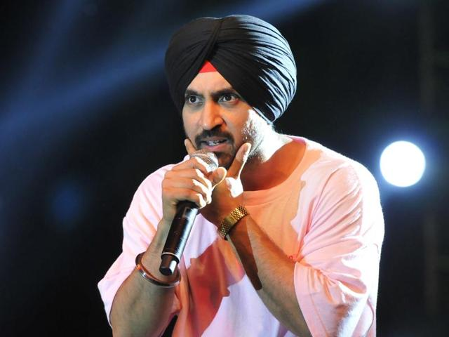 Actor-singer Diljit Dosanjh performing at Leisure Valley in Chandigarh on Tuesday.
