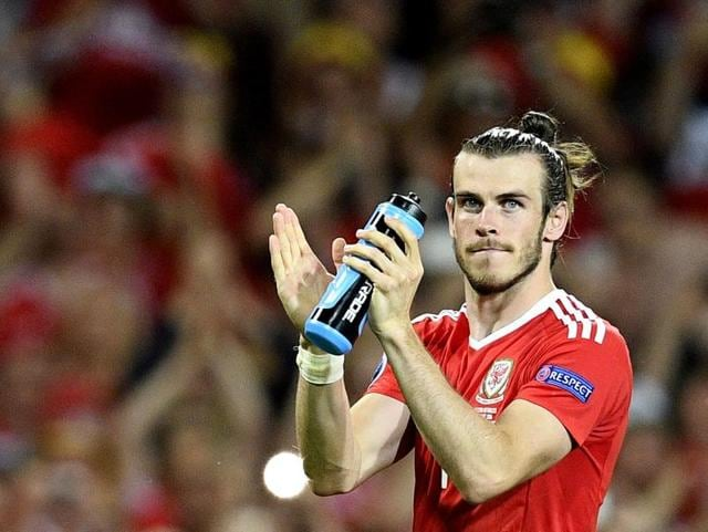 Wales's Gareth Bale reacts at the end of the Euro 2016 Group B football match between Russia and Wales at the Stadium municipal in Toulouse, France.
