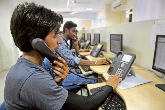 Call centre agents find it difficult to comprehend the language of non-Hindi speakers calling from Gurgaon and Faridabad.