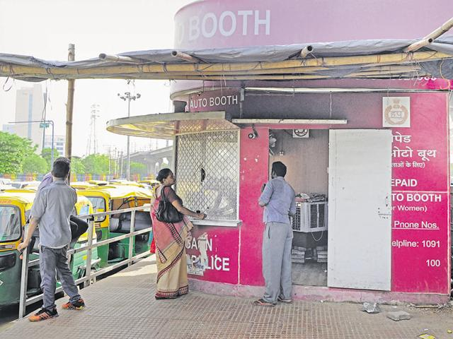 The prepaid  booths at metro stations are generally closed. In case the booths are open, there are not enough computers or staff to quickly issue tickets to the women queuing up.