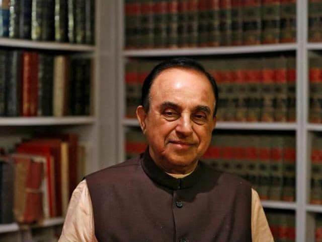 Bharatiya Janata Party (BJP) leader Subramanian Swamy poses for a picture after an interview with Reuters at his residence in New Delhi.