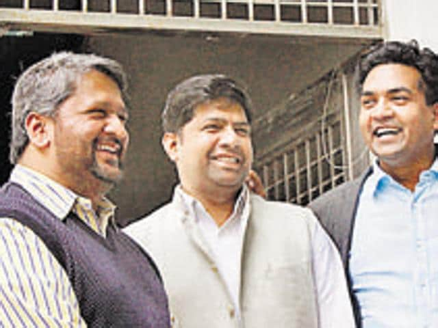 Dinesh Mohania (centre), who is also the vice-chairman of Delhi Jal Board, has rubbished the allegations.