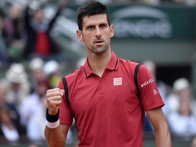 Serbia's Novak Djokovic reacts during his men's final match against Britain's Andy Murray.