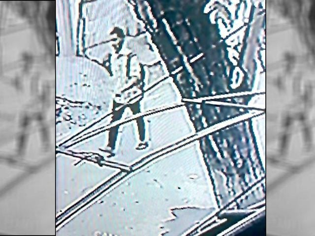 An image from a security camera shows a person who is suspected in S Swathi's murder.