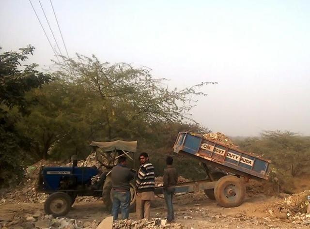 Aravalli Forests,C&D Waste,Dumping
