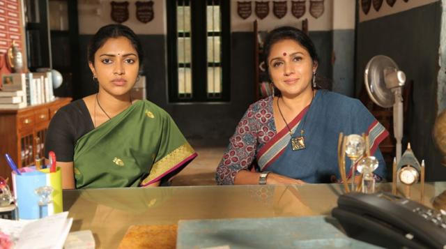 Amala Paul and Revathi in a still from Amma Kanakku.