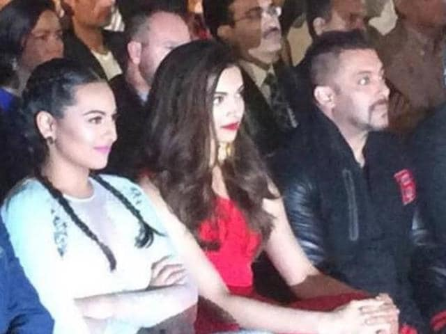 "Salman mocked at Priyanka Chopra and Deepika Padukone and termed them to be ""Hollywood returned."""