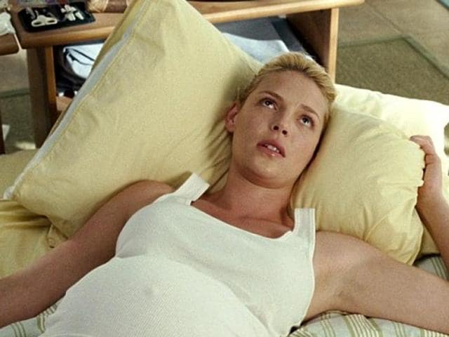 Heigl in a still from Knocked Up.