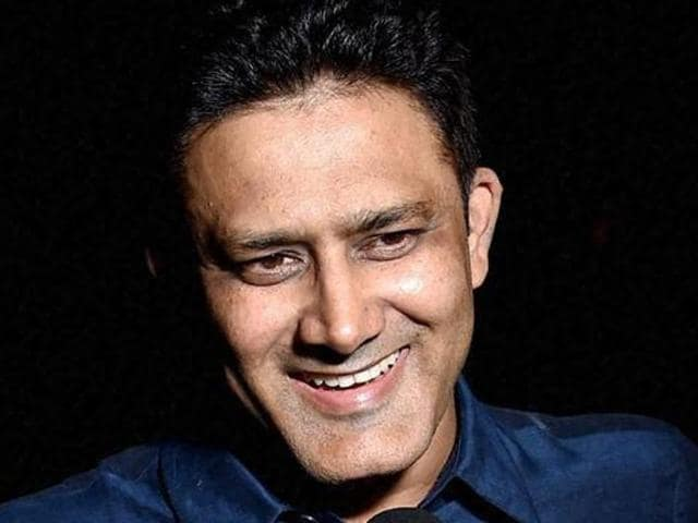 Anil Kumble with his family after his appointment.