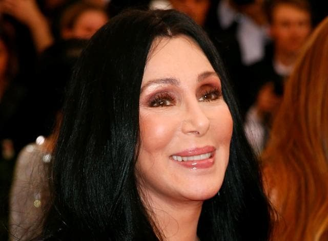 Cher arrives at the Metropolitan Museum of Art Costume Institute Gala 2015 celebrating the opening of