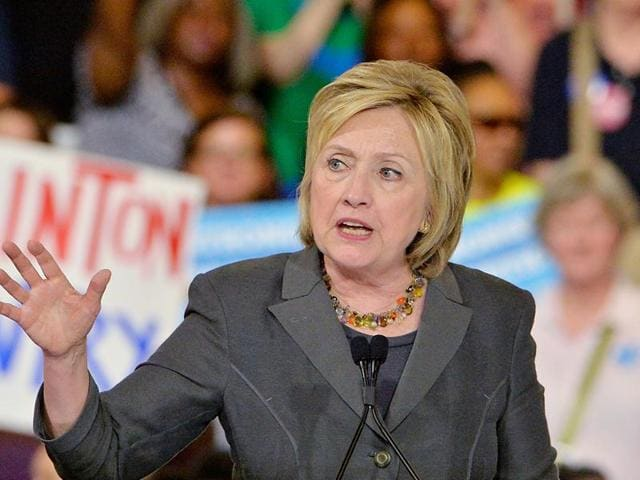 Presumptive Democratic presidential nominee Hillary Clinton at a campaign event in  Raleigh, North Carolina.  The State Department has confirmed that as secretary of state, Clinton failed to turn over a copy of a key email.