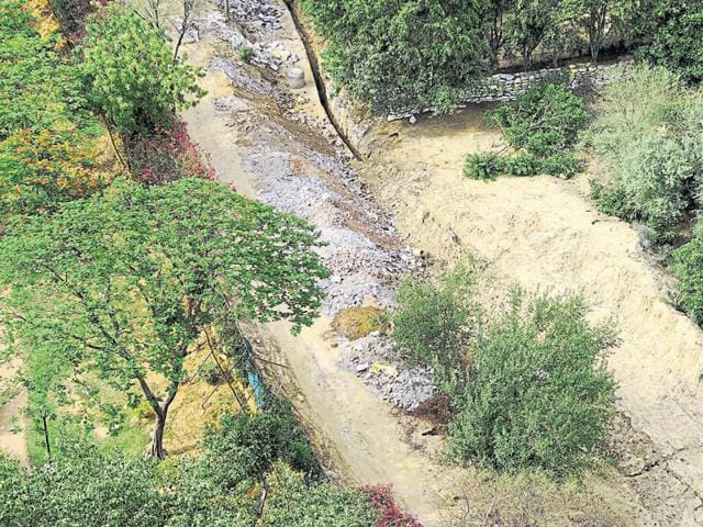 Environmentalists too are of the opinion that hat the dumping of garbage in the natural drain and in green cover area is leading to health issues and destroying