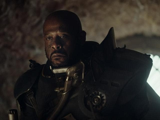 Forest Whitaker in a still from Rogue One: A Star Wars Story.