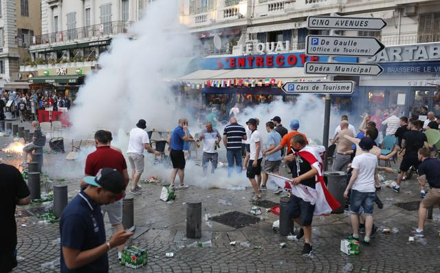 The grim reality of hooliganism in football resurfaced in France at the 2016 European Championship when English and French fans clashed in Marseille.