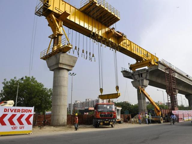 The high-speed Metro project is aimed at connecting Greater Noida's Bodaki industrial area with Indira Gandhi international airport in Delhi.