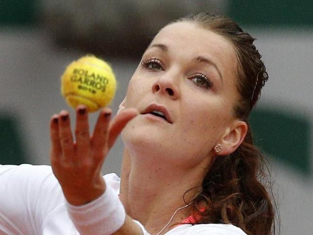 Poland's Agnieszka Radwanska during the quarterfinal of Aegon International at Devonshire Park, Eastbourne.