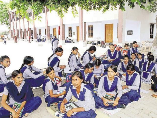 A large number of girl students are attending schools without basic facilities.
