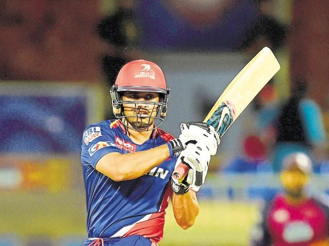 Karun Nair of Delhi Daredevils in action during an IPL T20 match against Rising Pune Supergiants at Dr YS Rajasekhara Reddy ACA-VDCA Cricket Stadium in Visakhapatnam in May 2016.