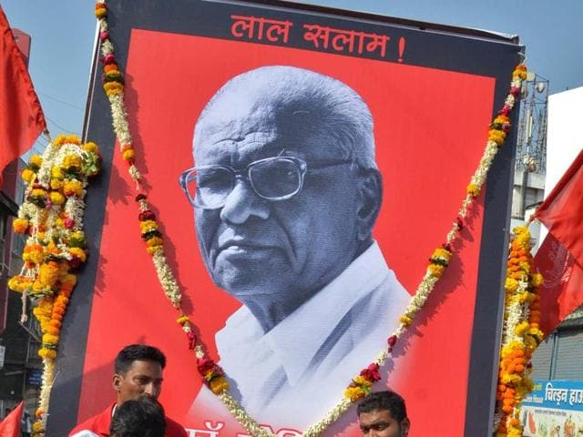 Communist leader Govind Pansare was shot dead on February 16, 2015, near his residence in Kolhapur, when he was out on a morning walk.(File photo)