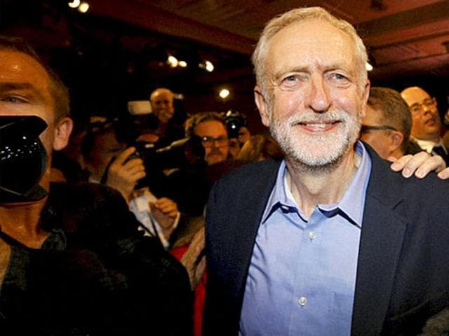 Britain's opposition leader Jeremy Corbyn sacked a key member of his cabinet early Sunday, the BBC reported, as deep divisions within the Labour party emerged following the Brexit vote.(AP Photo)