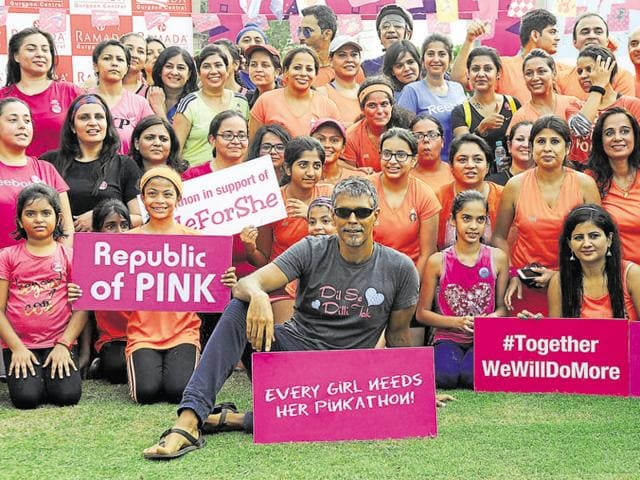 More than 150 women participated in Pinkathon Inaugural Run that started from the Ramada Gurgaon Central hotel.