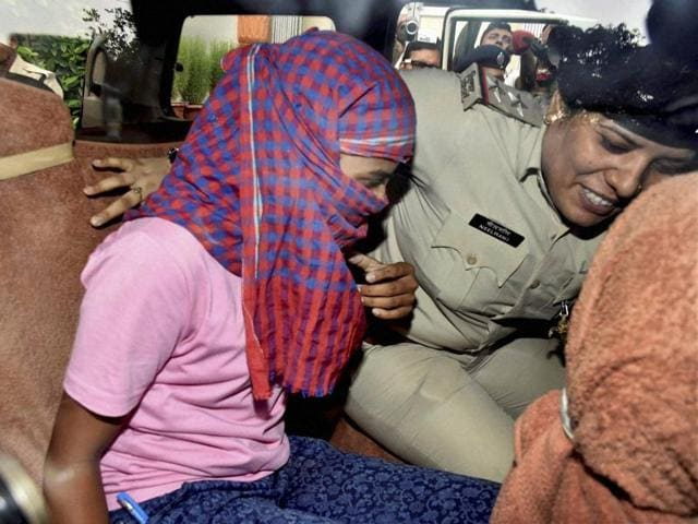 Bihar board 'topper' Ruby Rai takes a re-test before an expert panel on Saturday. She was later detained by a special investigation team.