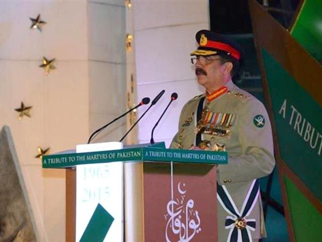 Pakistan's army chief General Raheel Sharif flew to Karachi on Sunday for security meetings following high-profile attacks that have raised fears of a slide back into chaos in the busy metropolis once known as the world's most violent megacity.