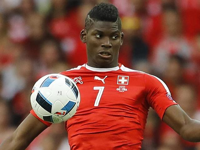 Switzerland's Breel Embolo goes for the ball during the Euro 2016 Group A  match.