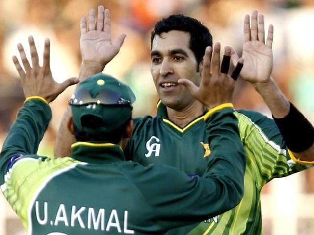 A file photo of Pakistan fast bowler Umar Gul.