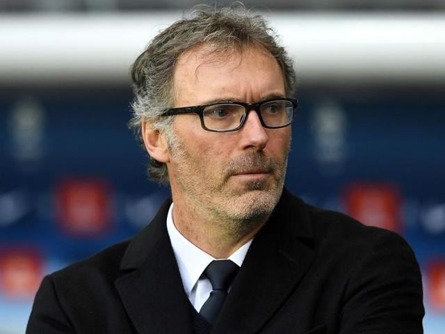 Afile photo of Laurent Blanc attending a French Ligue 1 football match.
