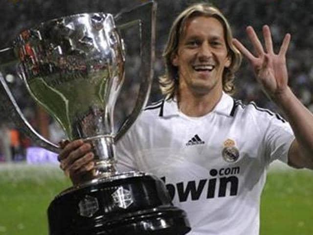 Afile photo of Spanish footballer Michel Salgado.