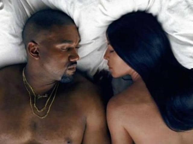 Nothin' quite like being famous!  A controversial music video for  his track Famous features Kanye and his wife Kim Kardashian West in bed. But that's not all: They are surrounded by a host of naked lookalikes, including singer Taylor Swift.