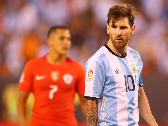 Messi cut a distraught figure after losing yet another final in Argentina colours.